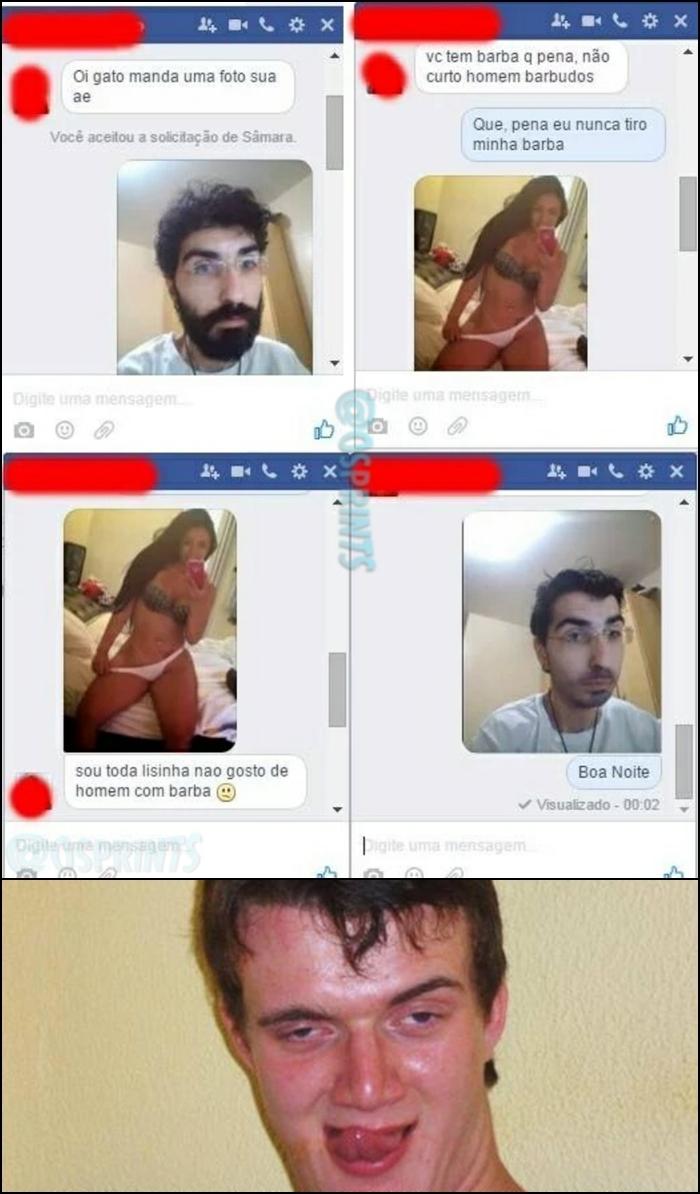 Nunca tiro a barba